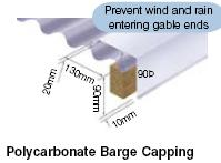 polycarbonate barge capping